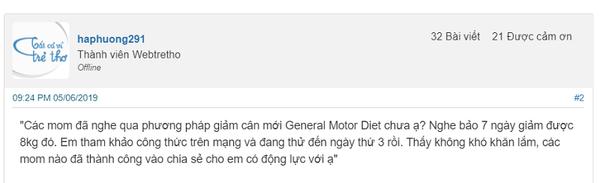 General Motor Diet review Webtretho
